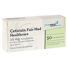 Cetirizin Fair-Med Healthcare 10mg 50 Stück N2