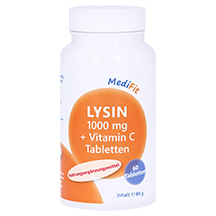 LYSIN 1.000 mg+Vitamin C Tabletten MediFit 60 Stück