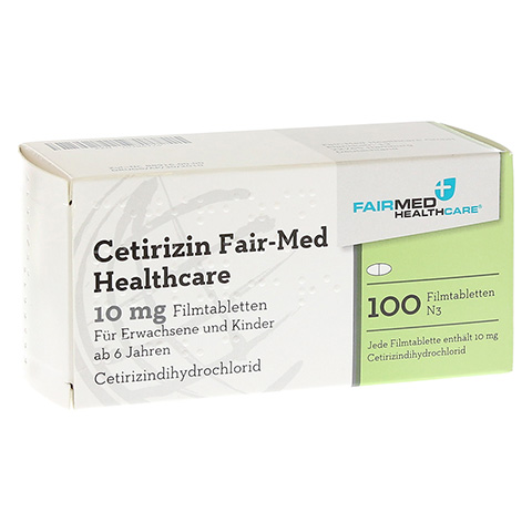 Cetirizin Fair-Med Healthcare 10mg 100 Stück N3