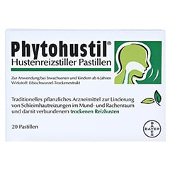 PHYTOHUSTIL Hustenreizstiller Pastillen 20 Stück N1 - Vorderseite