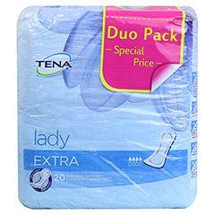 TENA LADY extra Einlagen Duopack 40 Stück - Vorderseite