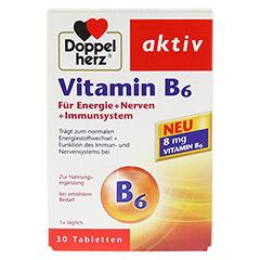 DOPPELHERZ Vitamin B6 Tabletten 30 Stück - Vorderseite