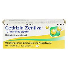 Cetirizin Zentiva 10mg 100 Stück N3 - Vorderseite