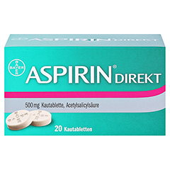 Aspirin Direkt 20 Stück - Vorderseite