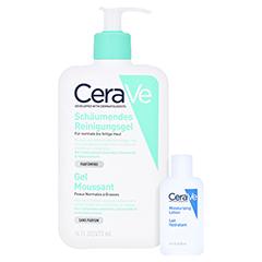 CERAVE schäumendes Reinigungsgel + gratis CeraVe Feuchtigkeitslotion 20ml 473 Milliliter