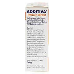 ADDITIVA Immun direkt Sticks 20 Stück - Linke Seite