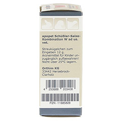APOPET Schüßler-Salze-Kombination W ad us.vet.Gl. 12 Gramm - Linke Seite