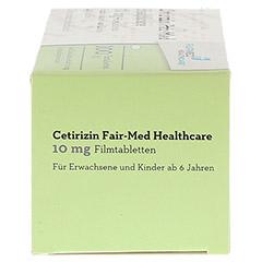 Cetirizin Fair-Med Healthcare 10mg 100 Stück N3 - Rechte Seite
