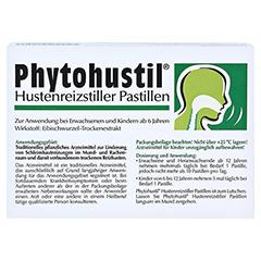 PHYTOHUSTIL Hustenreizstiller Pastillen 20 Stück - Rückseite