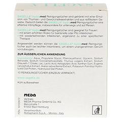 SAGELLA hydramed Intimwaschlotion Tücher 10 Stück - Rückseite