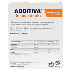 ADDITIVA Immun direkt Sticks 20 Stück - Rückseite