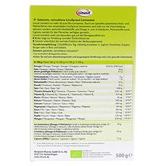 LINUSIT Leinaktiv Bio 500 Gramm - Rückseite
