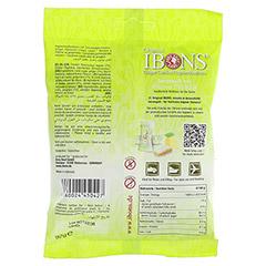 IBONS Zitrone Ingwerkaubonbons Orig.Btl.m.Euroloch 92 Gramm - Rückseite