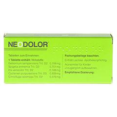 NEODOLOR Tabletten 40 Stück - Rückseite