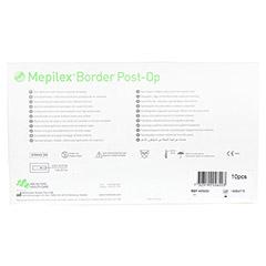 MEPILEX Border Post-Op Schaumverb.haftend 10x20 cm 10 Stück - Rückseite