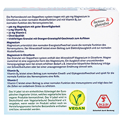 DOPPELHERZ Magnesium 400 Citrat system Granulat 20 Stück - Rückseite