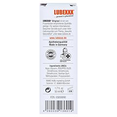 LUBEXXX Premium Bodyglide Emulsion 50 Milliliter - Rückseite