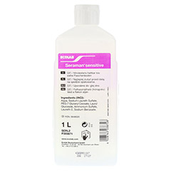 SERAMAN sensitive Hautreinigung Spenderflasche 1 Liter - Rückseite
