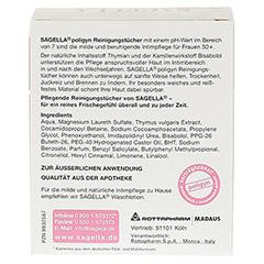 SAGELLA poligyn Reinigunstücher f.die Intimpflege 10 Stück - Rückseite