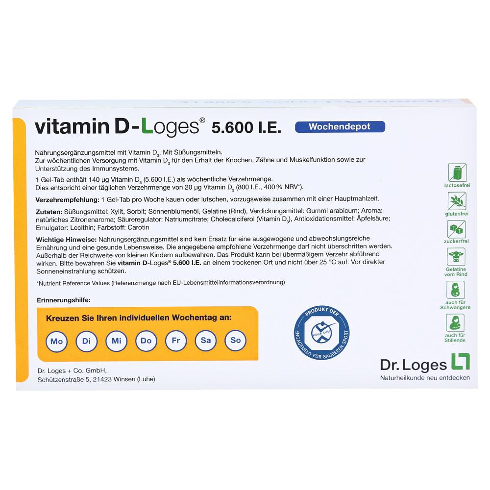 Vitamin D Loges 5600 Ie Kautablfamilienpackung 60 Stück Online
