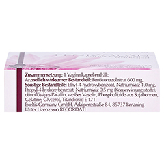 Fenizolan 600mg Vaginalovula 1 Stück N1 - Oberseite