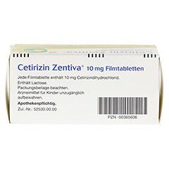 Cetirizin Zentiva 10mg 100 Stück N3 - Oberseite