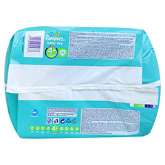 PAMPERS Baby Dry Gr.4+ maxi plus 9-20kg Jumbo plus 76 Stück - Unterseite
