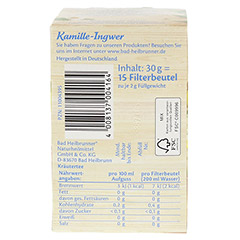 BAD HEILBRUNNER Tee Kamille-Ingwer Filterbeutel 15 Stück - Unterseite
