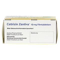 Cetirizin Zentiva 10mg 100 Stück N3 - Unterseite