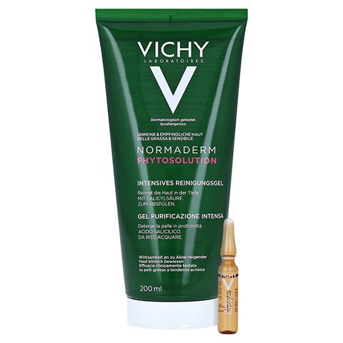 Vichy Normaderm Phytosolution Intensives Reinigungsgel + gratis Vichy Liftactiv Ampullen Glyco-C 200 Milliliter