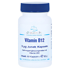 VITAMIN B12 3 µg Junek Kapseln 60 Stück
