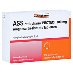 ASS-ratiopharm PROTECT 100mg magensaftr. 100 Stück N3