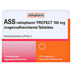 ASS-ratiopharm PROTECT 100mg magensaftr. 100 Stück N3 - Vorderseite