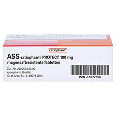 ASS-ratiopharm PROTECT 100mg magensaftr. 100 Stück N3 - Unterseite