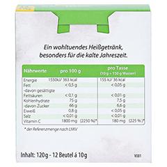 HEISAN heiße Zitrone mit Vitamin C Pulver 12x10 Gramm - Rückseite