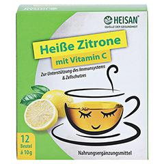 HEISAN heiße Zitrone mit Vitamin C Pulver 12x10 Gramm - Vorderseite