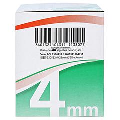 BD MICRO-FINE ULTRA Pro Pen-Nadeln 0,23x4 mm 32 G 105 Stück - Linke Seite