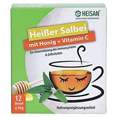 HEISAN heißer Salbei+Honig+Vitamin C Pulver 12x10 Gramm - Vorderseite