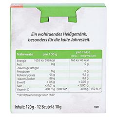 HEISAN heißer Salbei+Honig+Vitamin C Pulver 12x10 Gramm - Rückseite