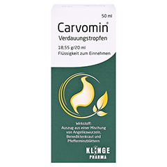 Carvomin Verdauungstropfen 50 Milliliter - Rückseite