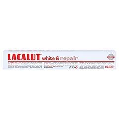 Lacalut White & repair Zahncreme 75 Milliliter - Oberseite
