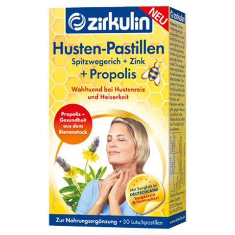 ZIRKULIN Husten Pastillen Spitzwegerich+Zink+Prop. 30 Stück
