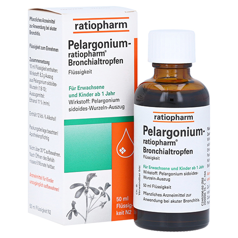 Pelargonium-ratiopharm Bronchialtropfen 50 Milliliter N2