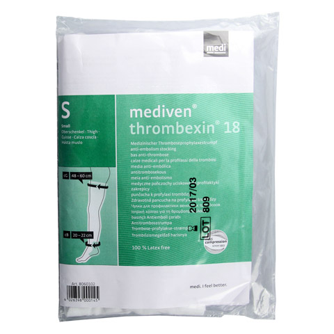 MEDIVEN Thrombexin 18 Obersch.str.Gr.S m.Haftb. 2 Stück