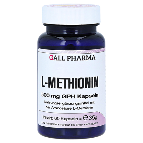 L-METHIONIN 500 mg Kapseln 60 Stück