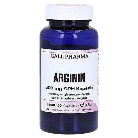 ARGININ 500 mg GPH Kapseln 80 Stück