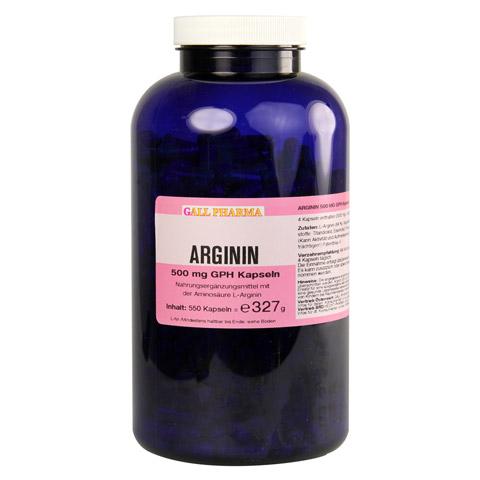 ARGININ 500 mg GPH Kapseln 550 Stück
