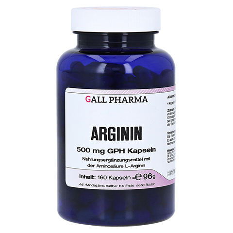 ARGININ 500 mg GPH Kapseln 160 Stück