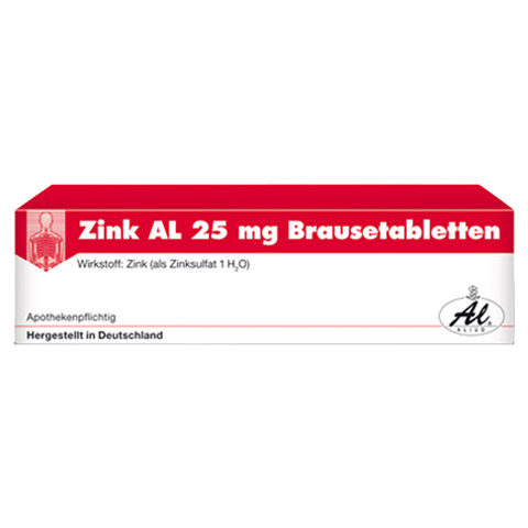 Zink AL 25mg 20 Stück N1