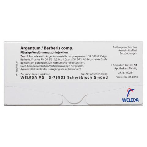 ARGENTUM/BERBERIS comp.Ampullen 8 Stück N1